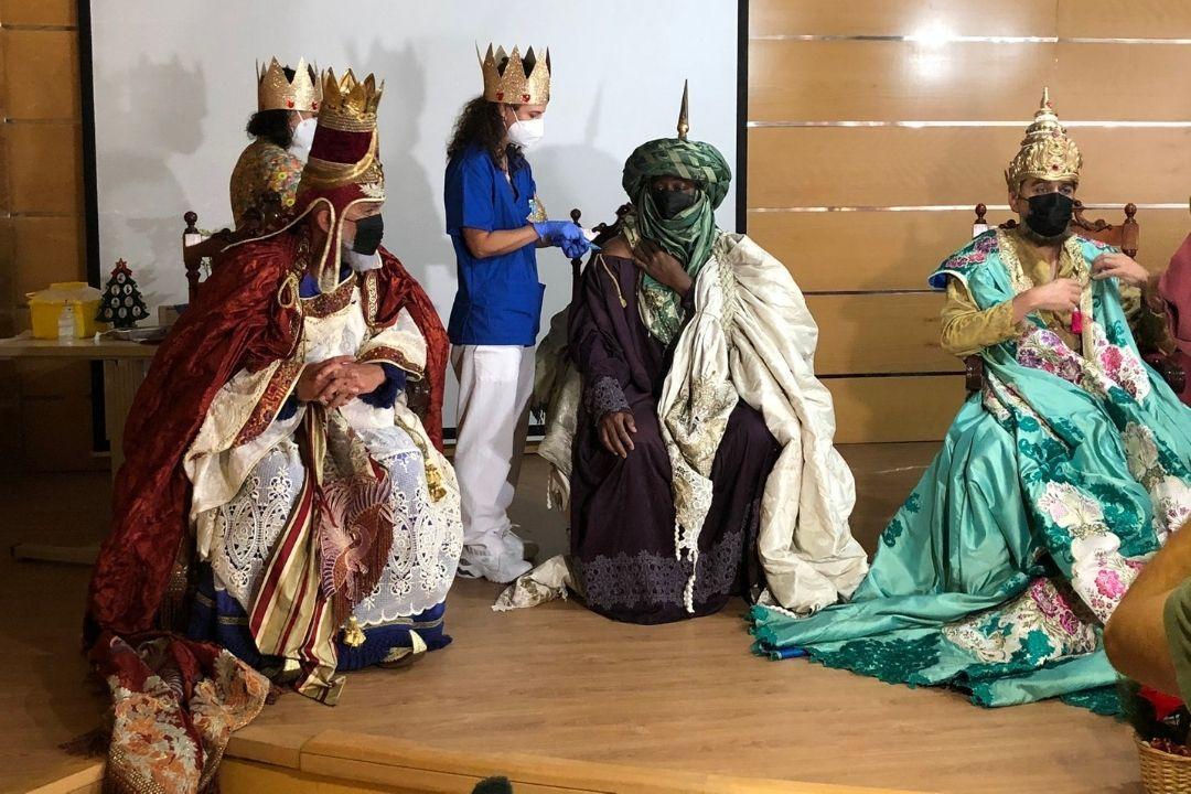 reyes magos se vacunan