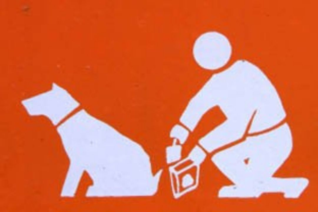 Mensaje de la Guardia CIvil para caca de perro