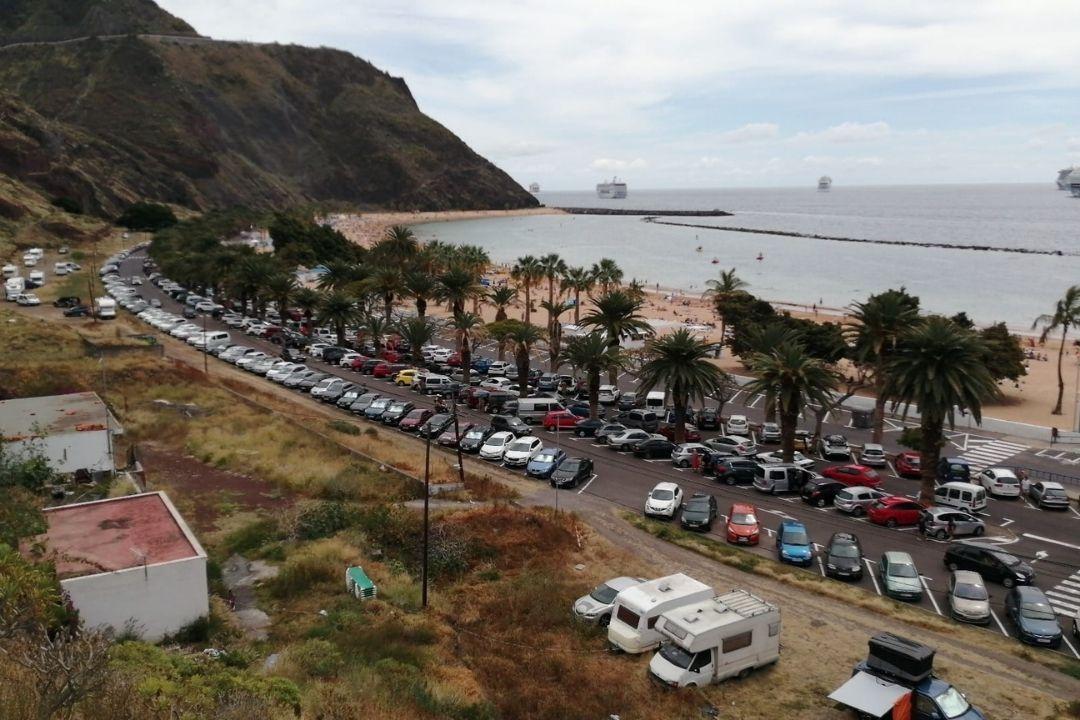 santa cruz prepara medidas para el trafico a playa de las teresitas