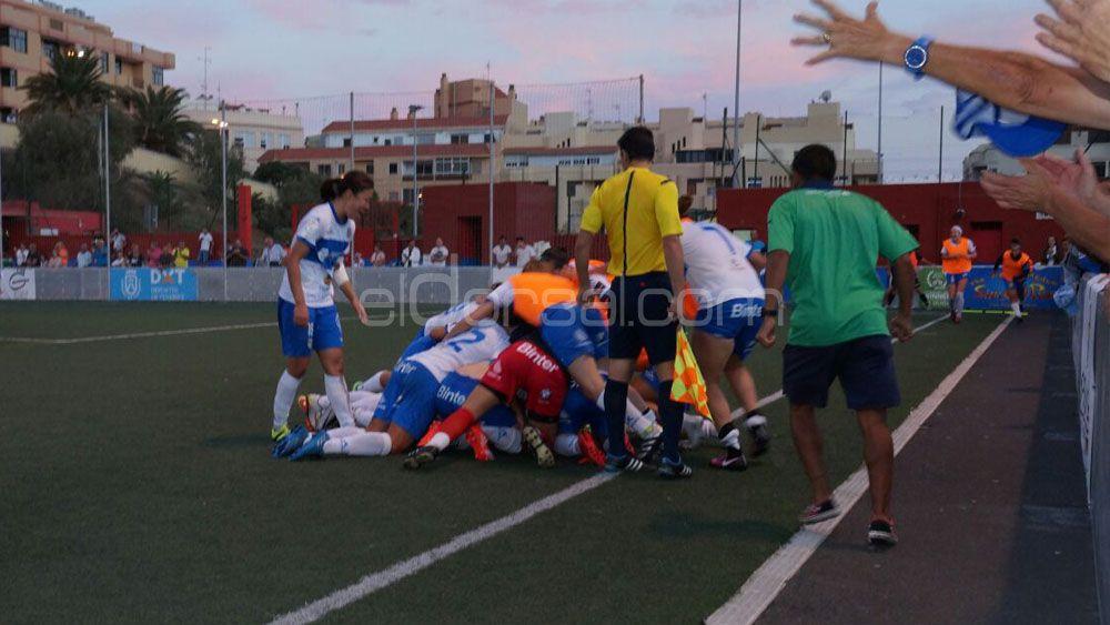Felicidad absoluta en las guerreras de la UDG Tenerife