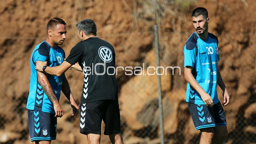 Enfado monumental entre Suso, Martí y Álex García en el último entrenamiento