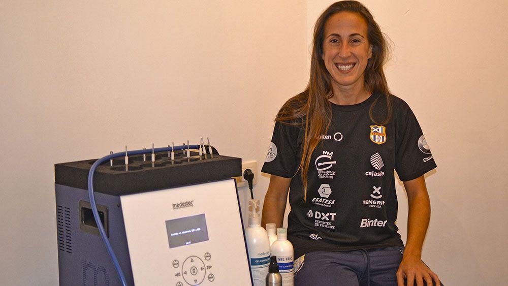 El trabajo preventivo de Alba Mena mejora el rendimiento y reduce las lesiones en la UDG Tenerife