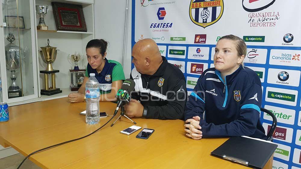 Felicidad plena en la UDG Tenerife tras remontar ante el Oiartzun KE
