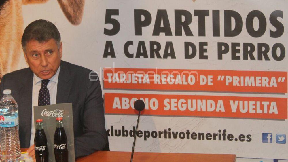 El CD Tenerife presenta las nuevas promociones para llenar el Heliodoro en 2017