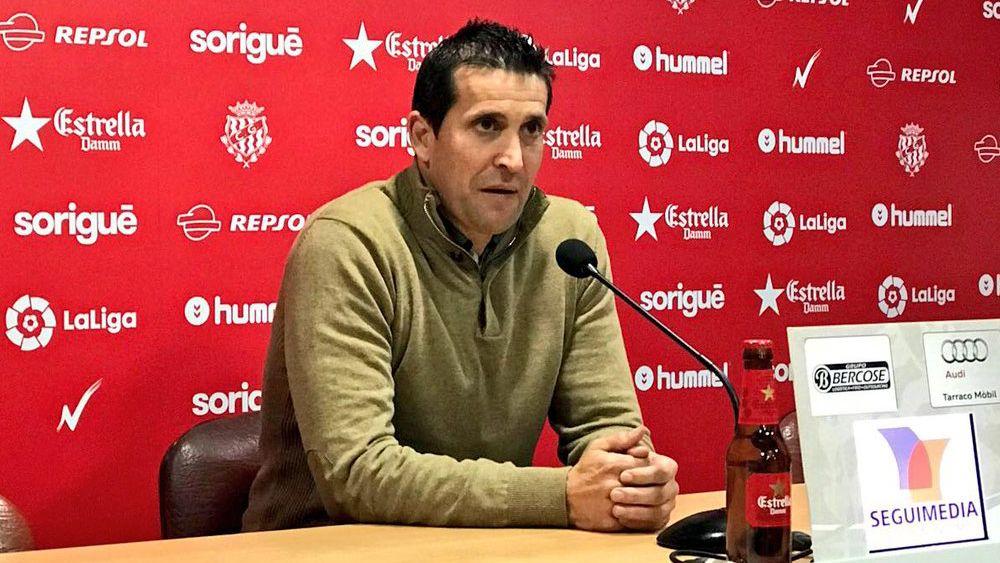 """Juan Merino: """"La afición debe ver que nos dejamos la vida en cada final, y la primera es ante el CD Tenerife"""""""