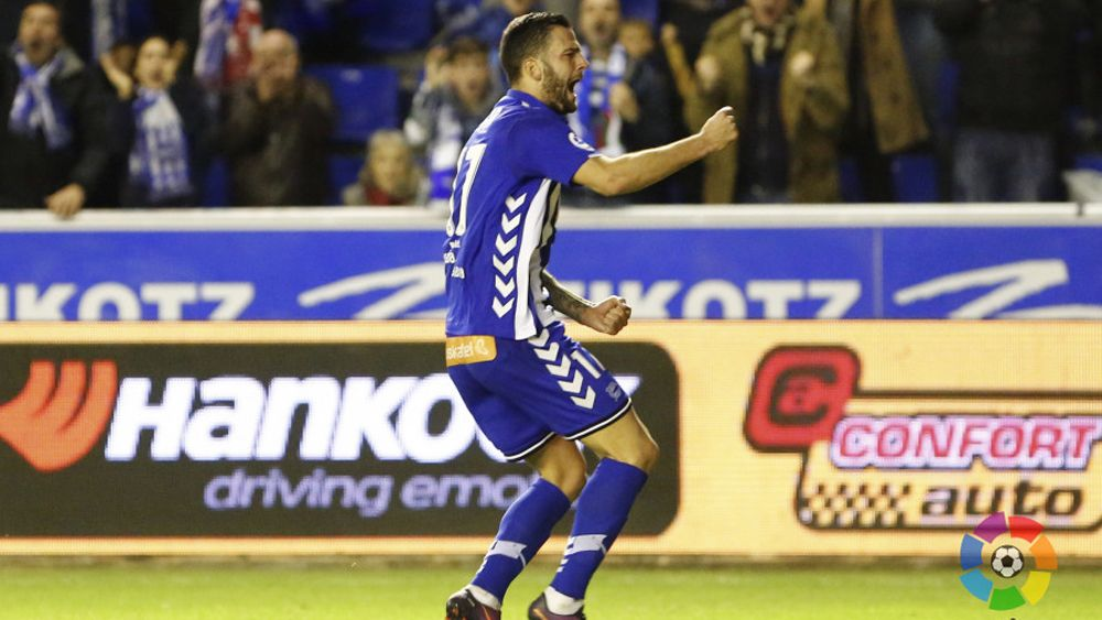 El golazo de Édgar que metió al Alavés en cuartos de final de la Copa del Rey