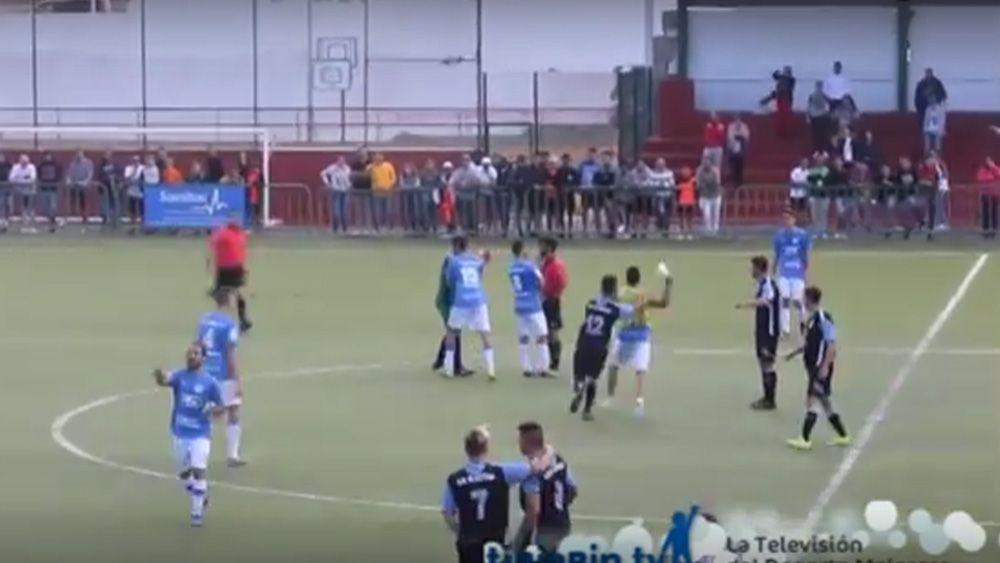 Un lamentable botellazo al árbitro de un partido de la Tercera Canaria, protagonista a nivel nacional