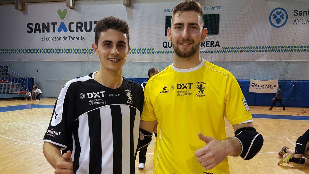 Edu Castro y David García, debutantes con el Iberia Toscal en Segunda División