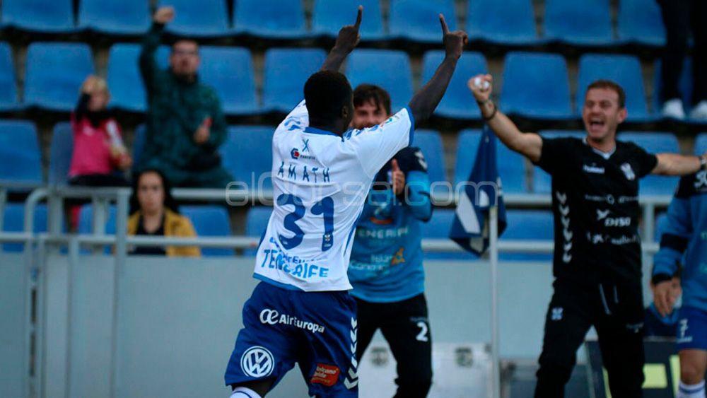 El doblete de Amath para dar la victoria al CD Tenerife