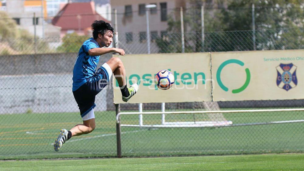 'Gakumanía' en el entrenamiento del CD Tenerife