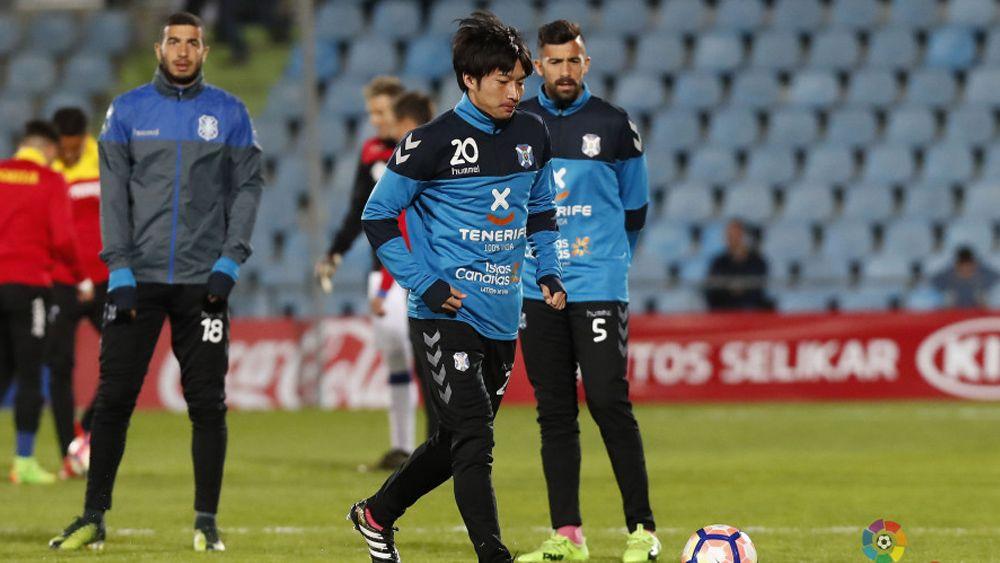 El debut de Gaku Shibasaki como jugador del CD Tenerife tendrá que esperar