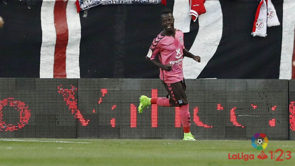 El gol de Amath y las ocasiones falladas por Rayo Vallecano y CD Tenerife