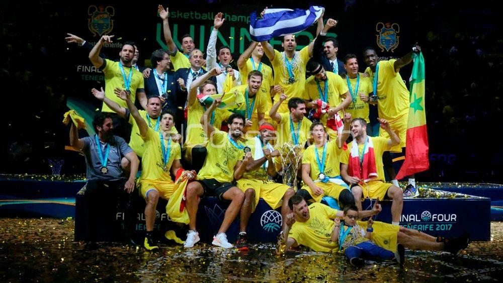 Celebración champions