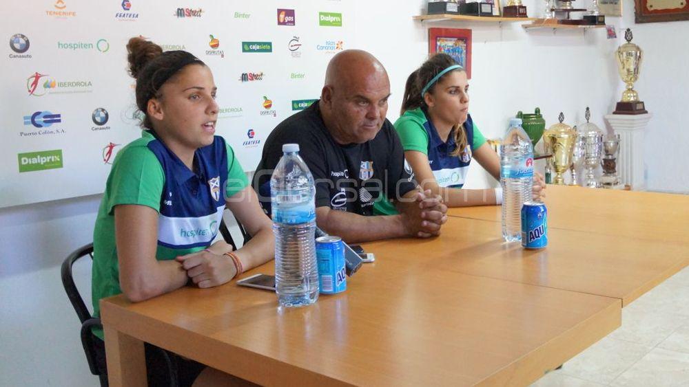 Noelia y Natalia Ramos, una emotiva y calurosa despedida de la UDG Tenerife