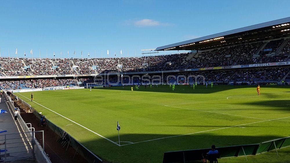 Lamentable estado de las gradas del Heliodoro Rodríguez López