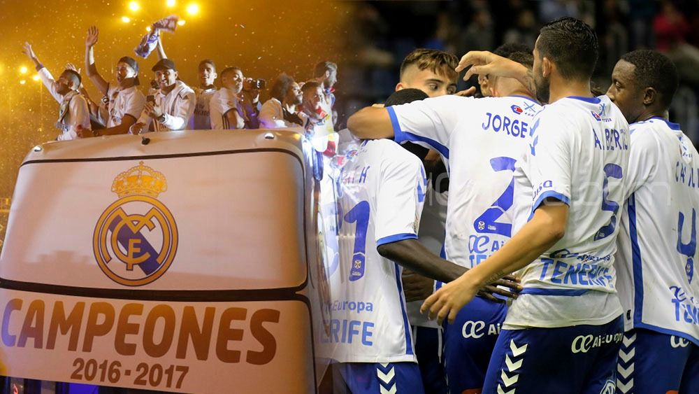 Tres ascensos del CD Tenerife a Primera coincidieron con ligas ganadas por el Real Madrid