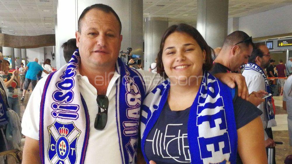 La afición del CD Tenerife también pone rumbo a Cádiz