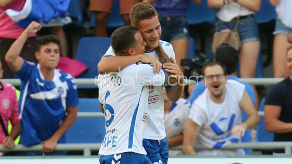Jorge se estrenó con el CD Tenerife en el partido más importante