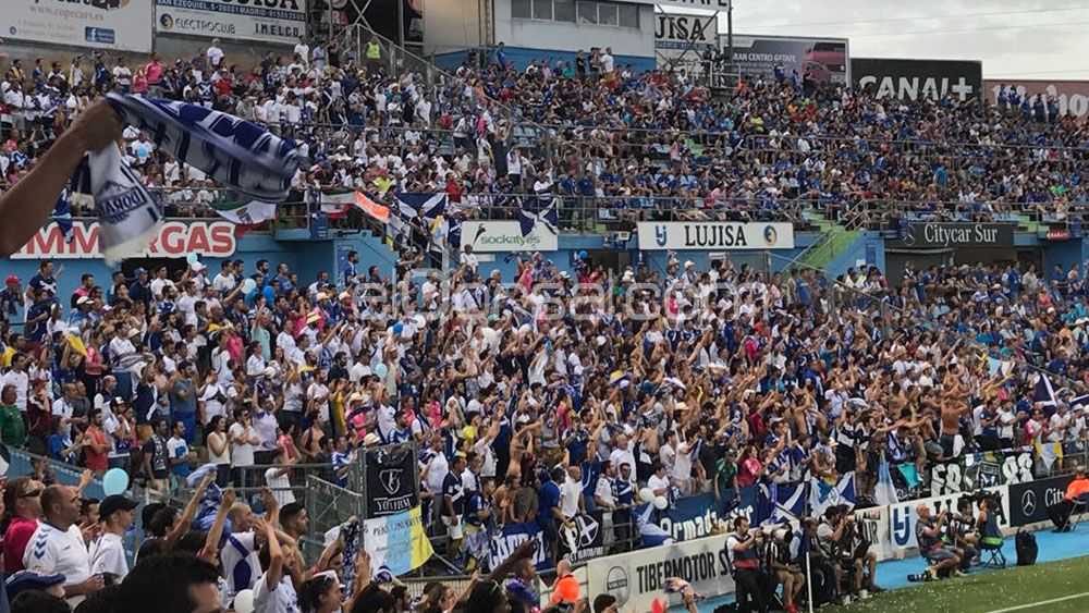 La Liga denuncia a la afición del CD Tenerife en Getafe