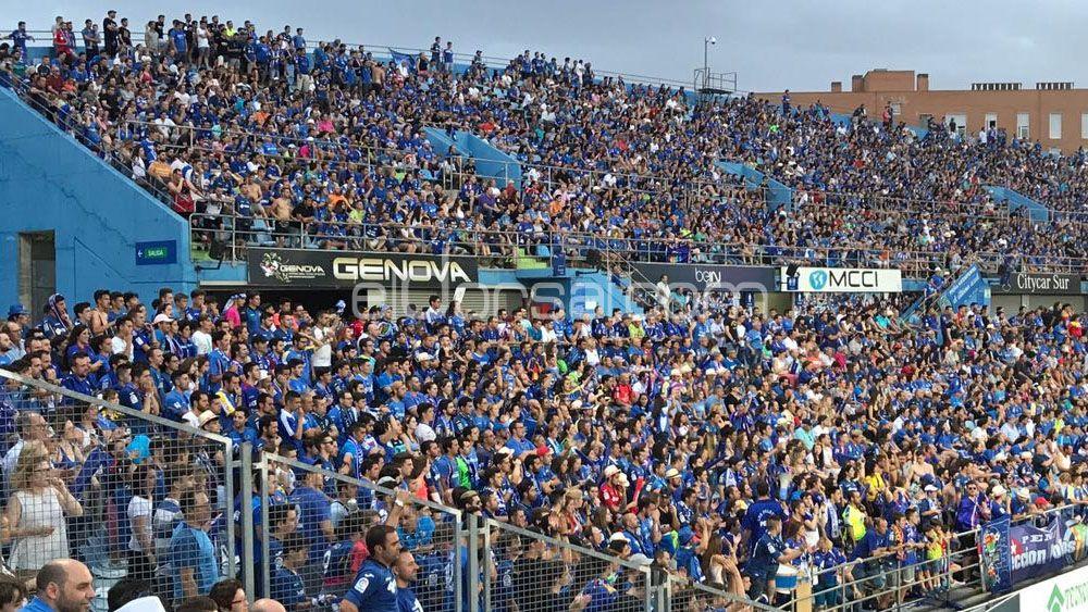 La afición del Getafe CF intimidó a la del CD Tenerife