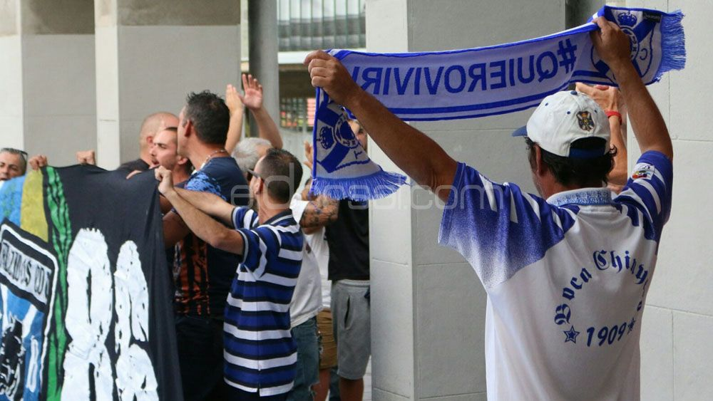 Fallida manifestación contra el presidente del CD Tenerife