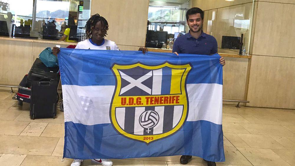"""Ange Koko: """"Estoy muy feliz, no me costará integrarme en la UDG Tenerife"""""""