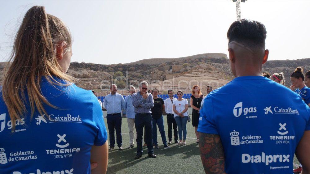La UDG Tenerife 17-18 comienza a rodar con autoridades del Cabildo de Tenerife