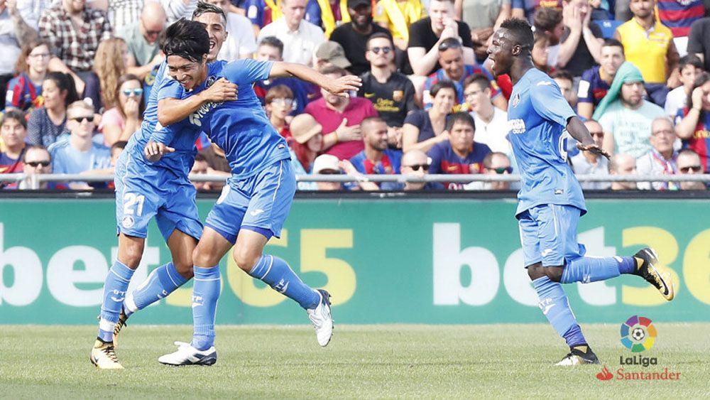 El golazo de Gaku Shibasaki al FC Barcelona
