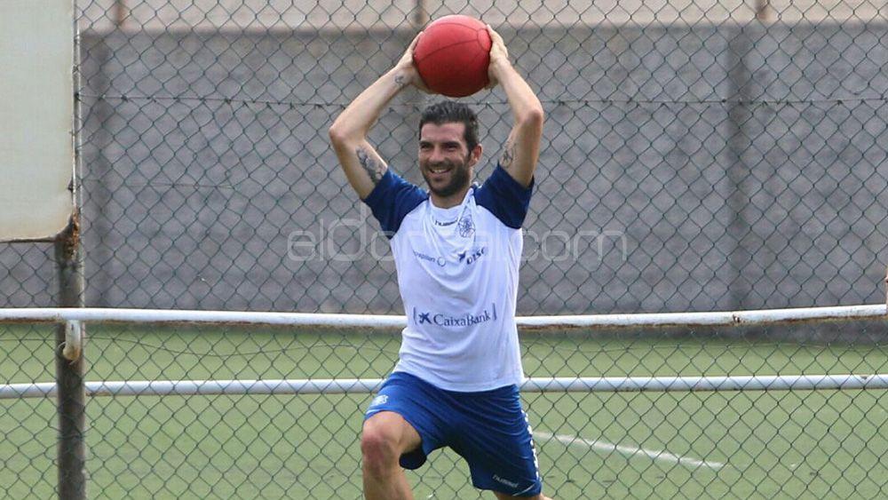 Iñaki Sáenz, el mejor jugador del CD Tenerife en Córdoba