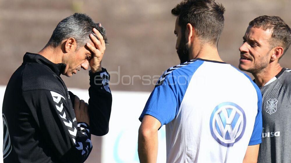Problemas para Martí en el primer entrenamiento de la semana del CD Tenerife