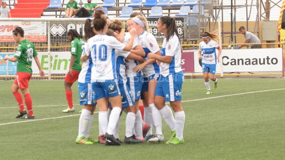 Primera victoria en casa y primera goleada de la UDG Tenerife de la temporada
