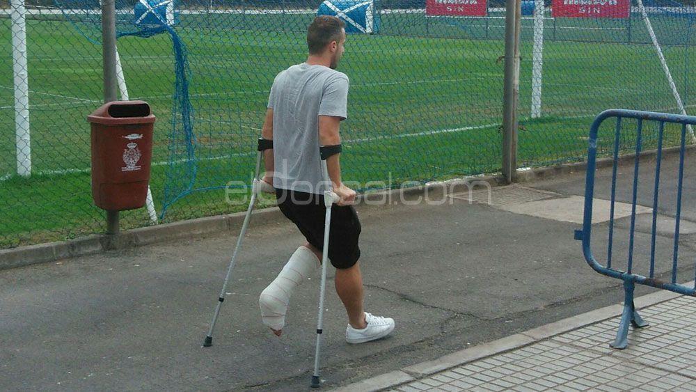 El CD Tenerife pierde a Montañés para los próximos tres meses