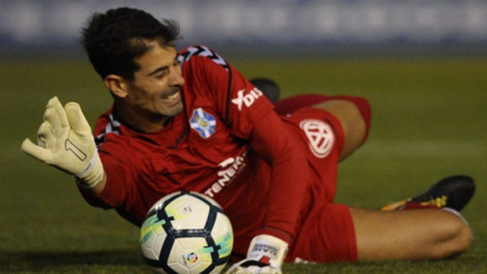 Dani Hernández, el mejor del CD Tenerife frente al Sevilla Atlético