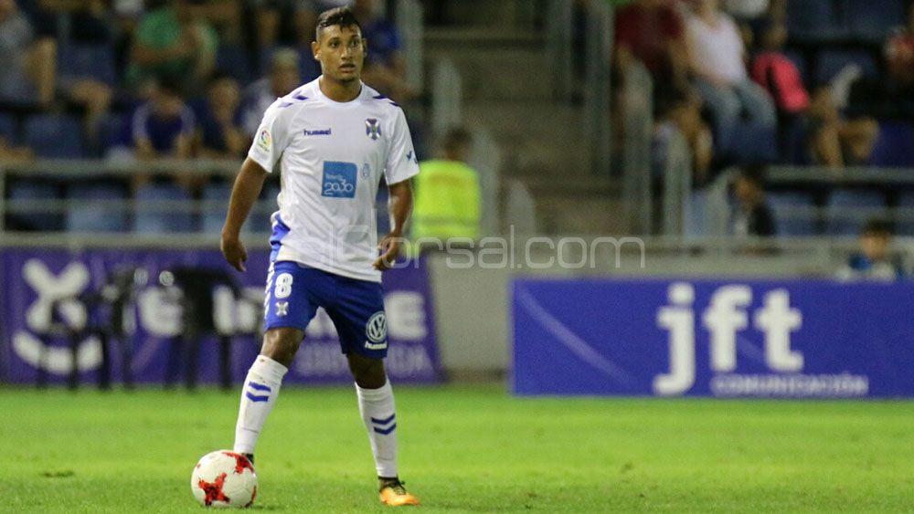 Bryan Acosta, el mejor jugador del CD Tenerife ante el Espanyol