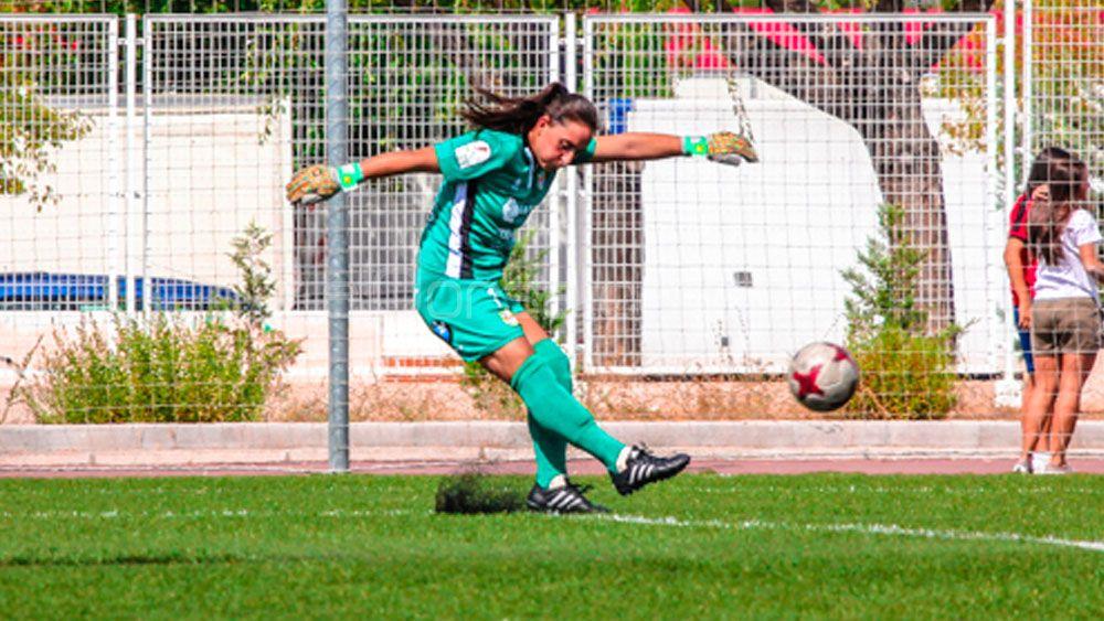 La portera de la UDG Tenerife Pili González, elegida mejor jugadora de la séptima jornada