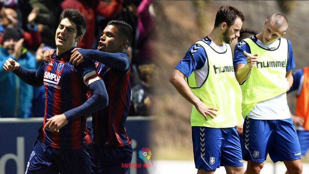 El SD Huesca – CD Tenerife, un duelo de duplas goleadoras
