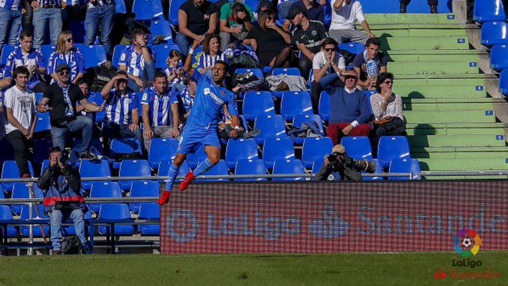El tinerfeño Ángel Rodríguez logra un doblete en la goleada del Getafe ante el Alavés