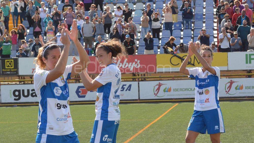 El gol de Jackie Simpson en una victoria histórica de la UDG Tenerife