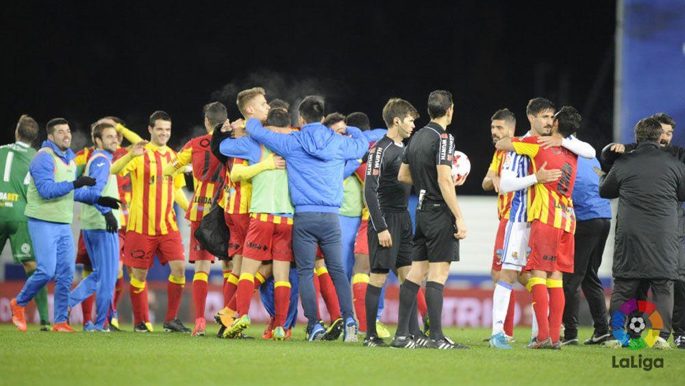 El Lleida de Aitor Núñez y Diego Rivas se carga a la Real Sociedad