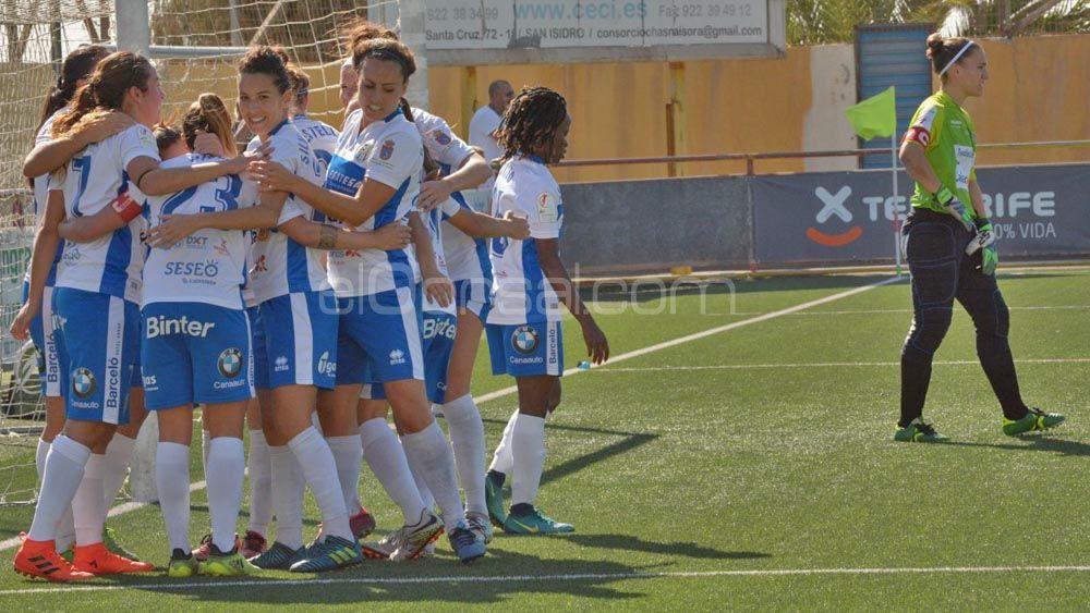 La gran victoria de la UDG Tenerife ante el Sporting de Huelva, en imágenes