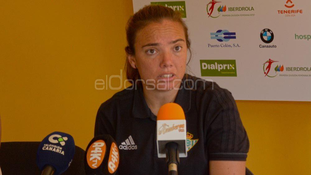 """María Pry: """"La fortuna cara a gol nos ha sonreído ante un gran equipo, la UDG Tenerife"""""""