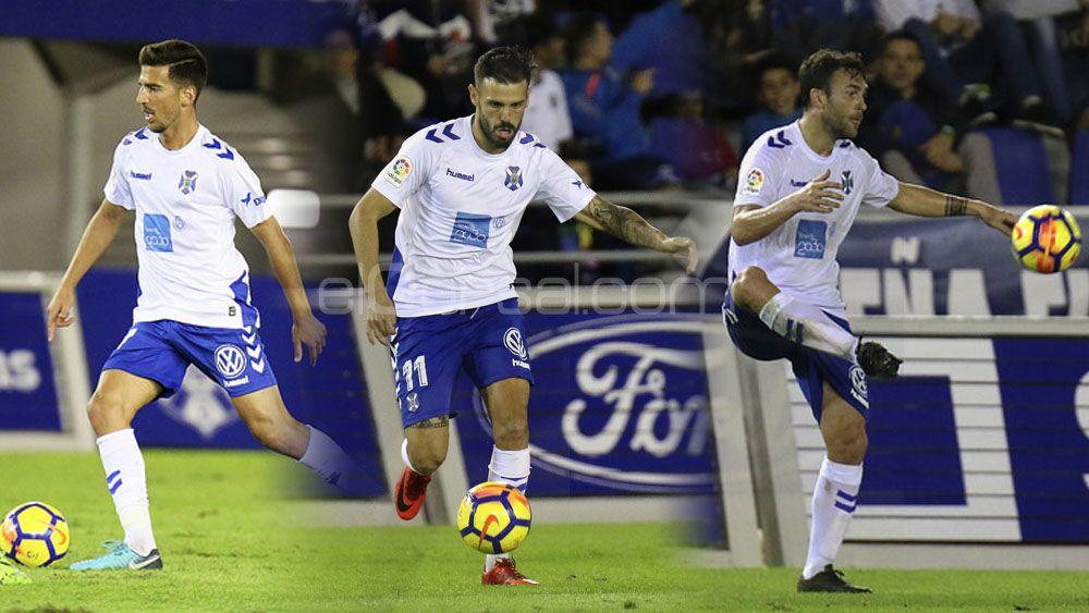 Juan Carlos, Tayron y Casadesús: un ápice del fútbol del CD Tenerife
