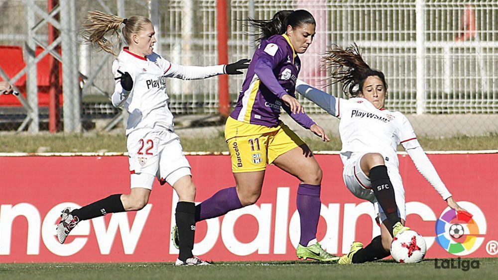 La UDG Tenerife estrella cinco balones en los palos y el Sevilla consigue el triunfo