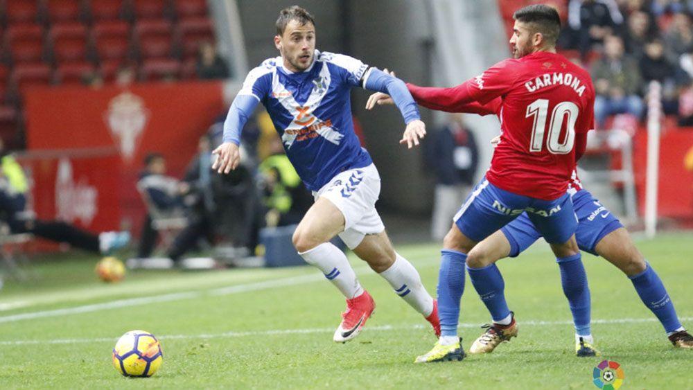 El uno por uno de los jugadores del CD Tenerife ante el Sporting de Gijón