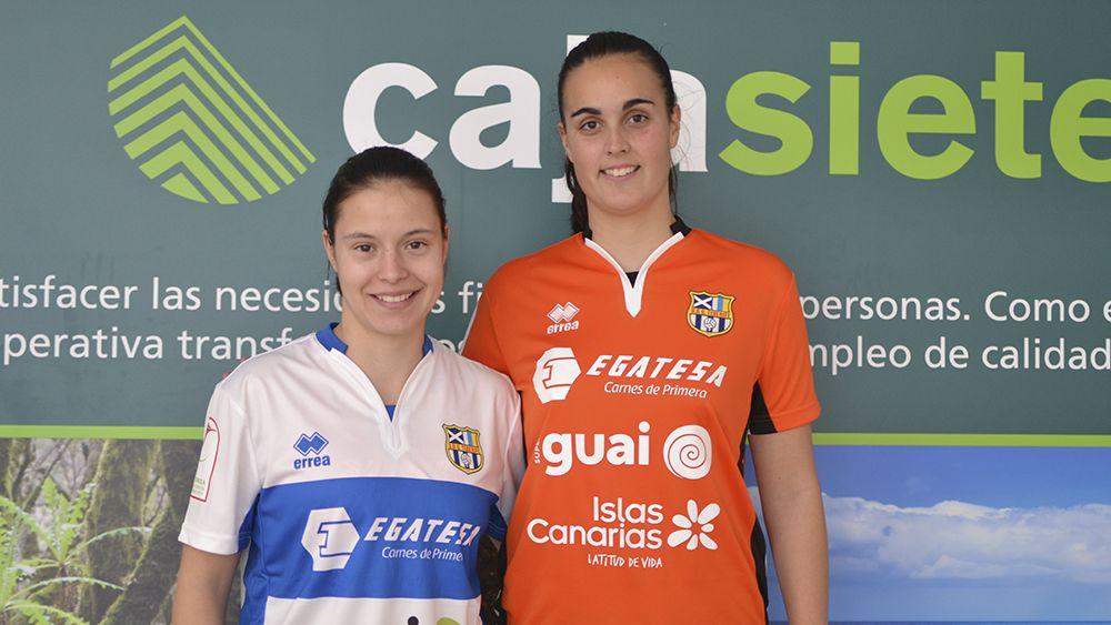 Stefania Vătafu e Itziar Martínez, presentadas como jugadoras de la UDG Tenerife