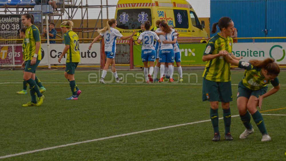 La UDG Tenerife se reencuentra con el triunfo frente al RCD Espanyol
