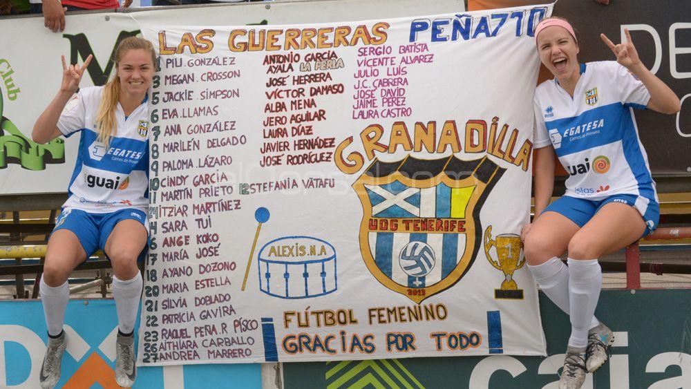 La primera victoria del año de la UDG Tenerife, en imágenes