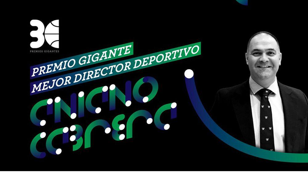 Aniano Cabrera, premio Gigante al mejor director deportivo