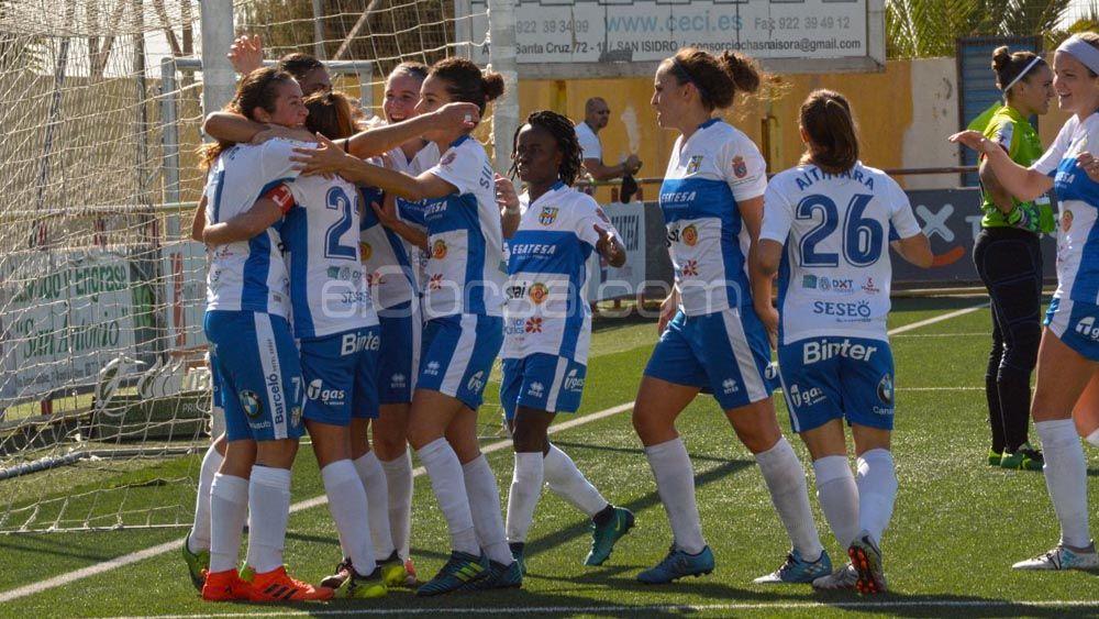 La UDG Tenerife, a solo dos puntos de su mejor puntuación en Liga Iberdrola