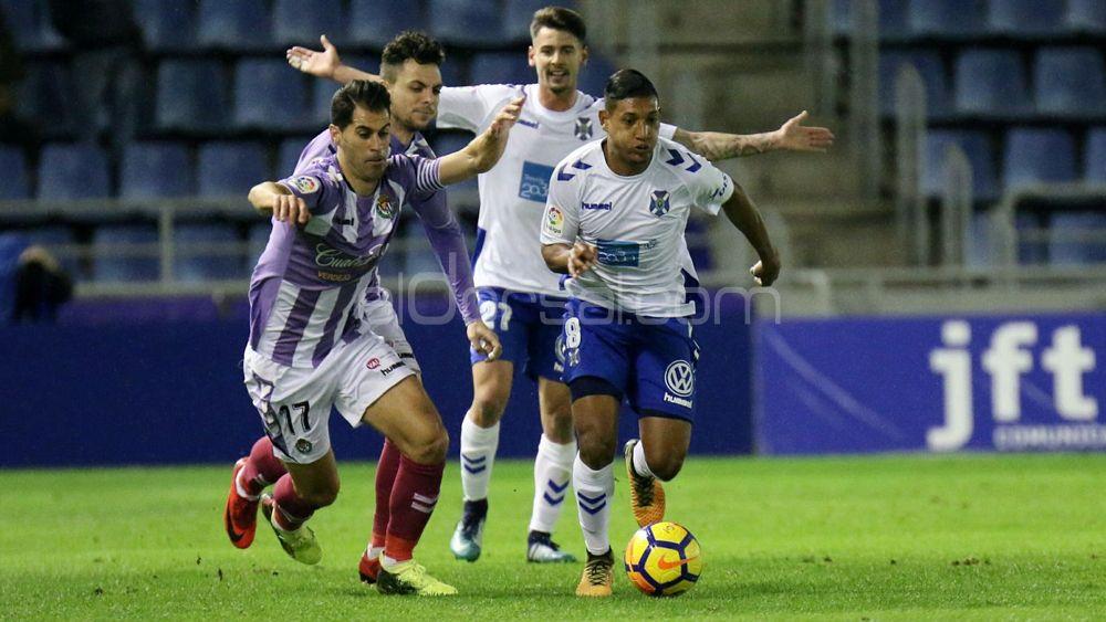 El uno por uno de los jugadores del CD Tenerife ante el Real Valladolid